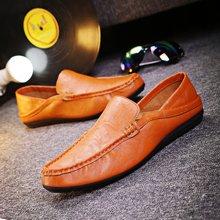 植木直新款韩版男士豆豆鞋套脚透气鞋160735