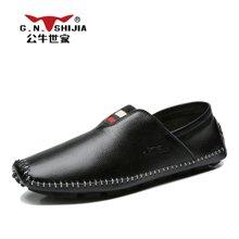 公牛世家休闲鞋2017新款男鞋时尚潮流豆豆鞋驾车鞋懒人鞋 888415