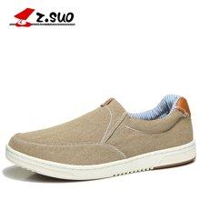 Z.Suo/走索韩版休闲鞋男士套脚板鞋潮鞋透气单鞋子帆布鞋低帮鞋 ZS718
