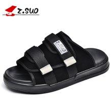 Z.Suo/走索男鞋夏季拖鞋男新款一字拖潮流凉拖凉鞋男鞋子沙滩鞋 ZS18600