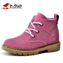 Z.Suo/走索女鞋秋冬马丁靴女英伦户外靴潮流短靴反绒皮工装靴 ZS362N