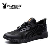 花花公子男鞋秋季透气网鞋韩版潮流休闲板鞋子男士网面跑步运动鞋CX39293
