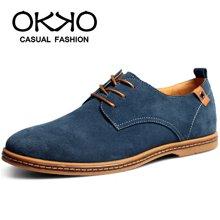 OKKO新款男士休闲鞋板鞋反绒皮鞋男鞋韩版鞋子潮鞋增高鞋K01