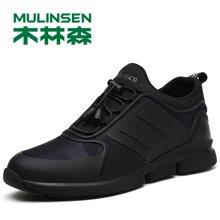 木林森男鞋内增高休闲鞋秋韩版透气运动鞋潮鞋增高跑步鞋270066