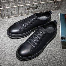 Simier2017秋冬男士黑色板鞋低帮厚底增高男鞋X9353