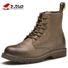 Z.Suo/走索男鞋英伦马丁靴男潮流工装靴子男士短靴军靴高帮情侣款 ZS18520