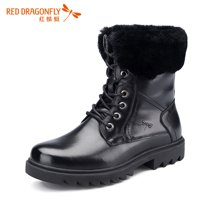 红蜻蜓男鞋 冬季男士时尚保暖马丁靴男靴子棉鞋4156