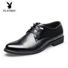 PLAYBOY/花花公子男鞋系带商务正装皮鞋男鞋