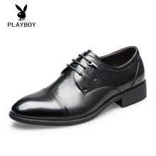 PLAYBOY/花花公子男鞋皮鞋系带商务正装男式婚鞋
