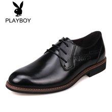 PLAYBOY/花花公子男鞋正装皮鞋系带牛皮男鞋