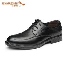红蜻蜓男鞋 秋季新款 英伦男士商务休闲鞋皮鞋子4191