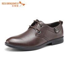 红蜻蜓男单鞋  正品系带商务休闲皮鞋男鞋5602