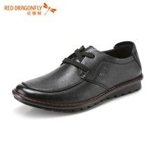 红蜻蜓男单鞋 系带日常休闲皮鞋男士单鞋5389
