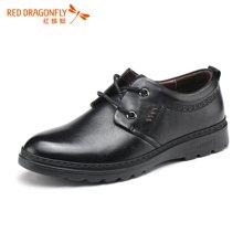 红蜻蜓男单鞋 男士英伦风日常休闲皮鞋男鞋5606
