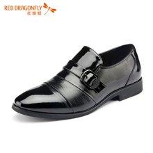 红蜻蜓男鞋  商务正装透气男士正品单鞋皮鞋 6240