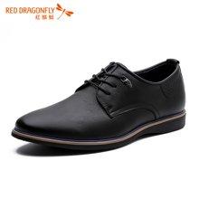 红蜻蜓男鞋 2016新款商务休闲系带男士皮鞋单鞋子 6258