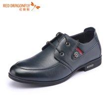 红蜻蜓男鞋 牛皮正品商务正装系带男单鞋皮鞋6126