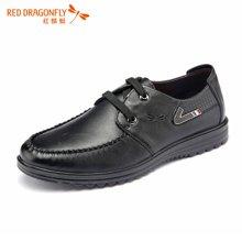 红蜻蜓男鞋 新款系带商务休闲皮鞋男单鞋子 6101
