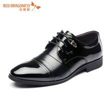 红蜻蜓男单鞋 男士商务正装系带透气皮鞋男鞋6241