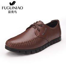 富贵鸟男鞋男士系带生活商务休闲鞋软底低帮鞋休闲皮鞋 S687073-1