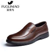 富贵鸟(FUGUINIAO)男士休闲鞋套脚商务休闲皮鞋爸爸鞋 A694709