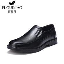 富贵鸟(FUGUINIAO)富贵鸟男鞋皮鞋英伦爸爸鞋男士商务休闲皮鞋 A606806