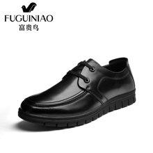富贵鸟(FUGUINIAO)休闲鞋男士2016冬季新款英伦商务休闲皮鞋男鞋青年系带鞋子A689910
