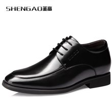 圣高内增高男鞋6cm男士增高皮鞋商务正装皮鞋婚鞋英伦头层牛皮鞋 1088
