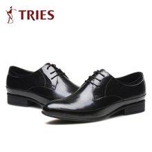 才子/TRIES男士皮鞋男鞋鞋子休闲鞋商务鞋英伦风系带男式工作鞋爸爸鞋H71C039