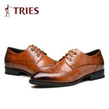 才子/TRIES正装男士皮鞋男鞋鞋子休闲鞋商务鞋男士商务皮鞋英伦时尚男鞋H65C1861