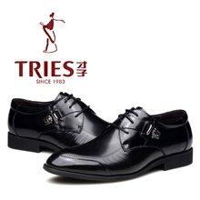 才子/TRIES/新款男士皮鞋男鞋鞋子休闲鞋商务鞋春季商务正装鞋结婚鞋头层牛皮鞋H28CA01