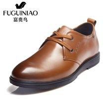 富贵鸟(FUGUINIAO)2016年新品 时尚头层牛皮男士商务休闲系带鞋男皮鞋男 S686109