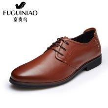 富贵鸟(FUGUINIAO)时尚新潮英伦男士系带商务正装皮鞋尖头正装鞋男鞋 T689108