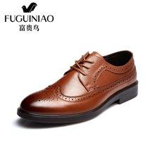 富贵鸟(FUGUINIAO)时尚英伦布洛克潮流休闲鞋子商务休闲皮鞋男鞋 B606731