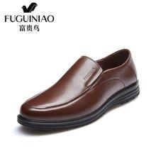 富贵鸟皮鞋男商务休闲皮鞋男鞋套脚爸爸鞋休闲鞋 A603307