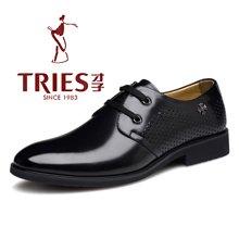 才子/TRIES新款男士皮鞋男鞋鞋子休闲鞋商务鞋正装头层皮鞋透气休鞋子CSH37C0183