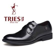 才子/TRIES新款男士皮鞋男鞋鞋子休闲鞋商务鞋正装头层皮鞋透气鞋子CSH38C018