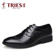 才子TRIES男士皮鞋男鞋鞋子休闲鞋商务鞋商务正装鞋H31C8582