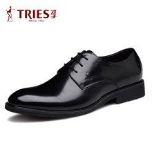 才子/TRIES新款男士皮鞋男鞋鞋子休闲鞋商务鞋流行男鞋尖头商务休闲鞋CSH35C0185