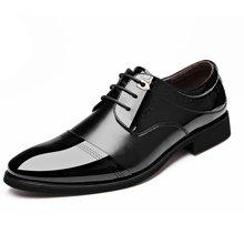 俊斯特 新款男士皮鞋商务正装皮鞋男系带时尚单鞋男鞋男休闲鞋