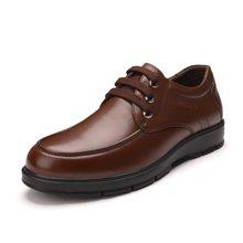富贵鸟(FUGUINIAO)男士皮鞋头层牛皮商务休闲男鞋舒适系带鞋子男 A603002
