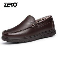 零度尚品棉鞋保暖羊毛男士商务皮鞋冬季新品套脚舒适男鞋F5297