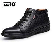 零度尚品高帮鞋冬季新品流行男靴保暖舒适短靴日常休闲鞋F5298