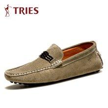 才子TRIES男鞋时尚休闲鞋男士棉鞋豆豆鞋H82C5001M