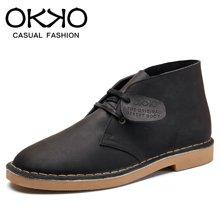 OKKO英伦风男鞋工装靴马丁靴男靴靴子男士沙漠靴短靴马丁鞋工装鞋7707