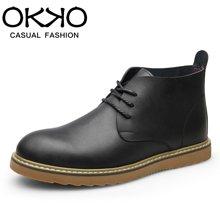 OKKO男士马丁靴英伦男靴子男士短靴工装靴男军靴沙漠靴男鞋7601