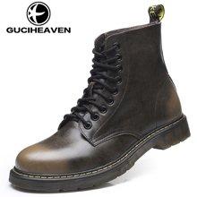 古奇天伦男士休闲鞋时尚马丁靴男士短靴6066