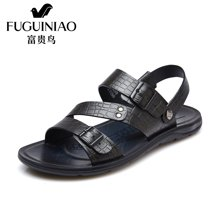 富贵鸟(FUGUINIAO)夏季新品头层牛皮沙滩鞋 清爽透气凉鞋 C690090