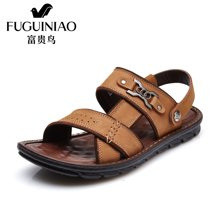 富贵鸟(FUGUINIAO)富贵鸟凉鞋夏季新品时尚简约头层牛皮舒适两用男鞋懒人鞋男凉鞋 C690089