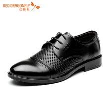 红蜻蜓镂空皮鞋男鞋 2016夏季新款商务正装透气男单鞋子 6003